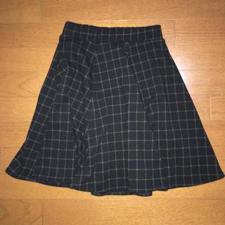 アロー(ARROW)のチェック柄 フレアスカート  秋(ひざ丈スカート)