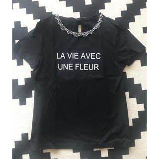ジャスグリッティー(JUSGLITTY)のジャス♡ビジュー付きTシャツ(Tシャツ(半袖/袖なし))