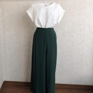 GU - 緑 ワイドパンツ (used 古着)