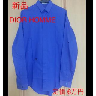 ディオールオム(DIOR HOMME)の☆新品未使用☆ Dior homme ビー刺繍 シャツ ロイヤルブルー 37(シャツ)