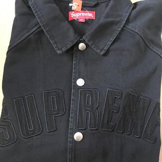 Supreme - XL supreme snap front twill jacket 黒