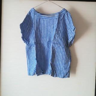 ジーユー(GU)の麻混ブラウス(シャツ/ブラウス(半袖/袖なし))