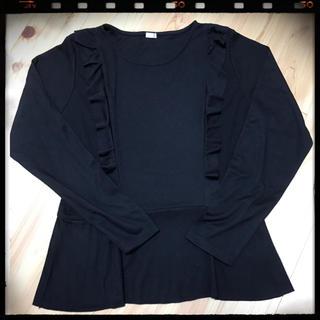 ジーユー(GU)のフリル ペフラムロンT(Tシャツ(長袖/七分))