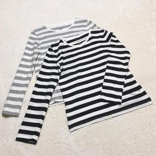 MUJI (無印良品) - 無印良品 オーガニックコットンクルーネック長袖TシャツL 2枚セット