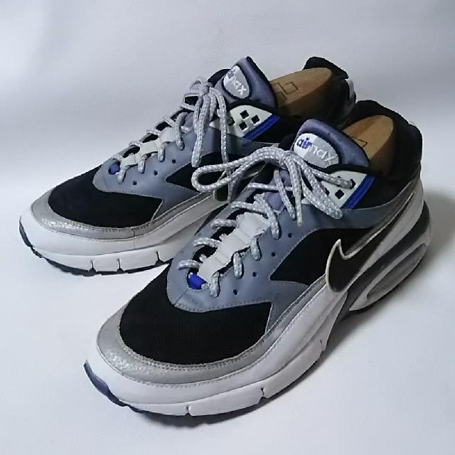 NIKE(ナイキ)の希少完売モデル!ナイキエアマックスMODULAR95レザースニーカー黒白 メンズの靴/シューズ(スニーカー)の商品写真