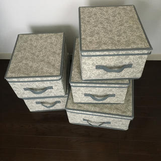 Francfranc - フランフラン ストレージボックス 5点セット 収納 布ボックス 箱