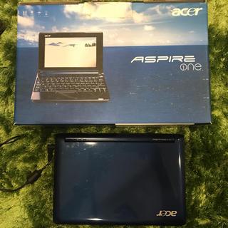 エイサー(Acer)のノートPC(ネットブック) Acer Aspire One ZG5 ネイビー(ノートPC)