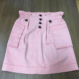ココディール(COCO DEAL)のココディール スカート 美品 春夏 ピンク オレンジ cocodeal(ミニスカート)