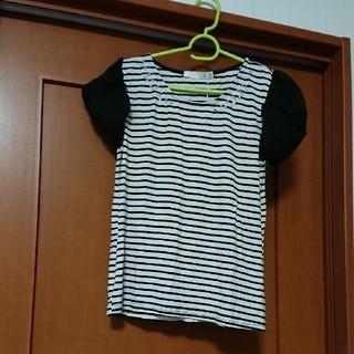 アロー(ARROW)のARROW ビジュー付きTシャツ(Tシャツ(半袖/袖なし))