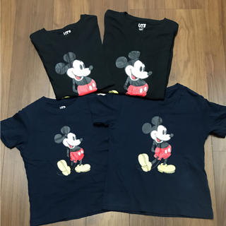 UNIQLO - ユニクロミッキー半袖Tシャツ4枚セット★120130SL