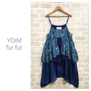 ファーファー(fur fur)の【YOIM furfur】花柄フリルワンピース ファーファー(ひざ丈ワンピース)