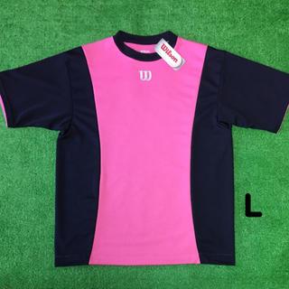 ウィルソン(wilson)のWilson ピンクボディ半袖Tシャツ L 新品(ウェア)