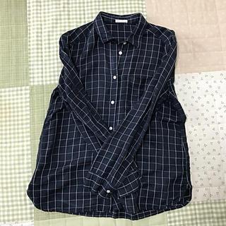GU - 美品✨GU リネン チェックシャツ