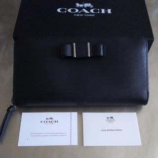 コーチ(COACH)の【美品】COACHコ-チラウンドファスナー長財布(財布)