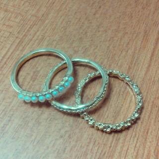 アクアガール(aquagirl)のアクアガール 3連リング(リング(指輪))