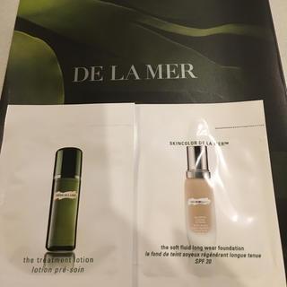 ドゥラメール(DE LA MER)のDE LA MER 化粧水とファンデーション(サンプル/トライアルキット)