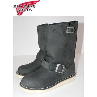 レッドウィング(REDWING)の正規品REDWINGレッドウィング本革ヌバック エンジニアブーツ37.5 (ブーツ)