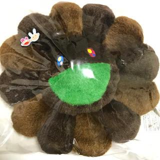 カイカイキキ 村上隆 お花クッション ブラウン 30cm ゆず アゲ花