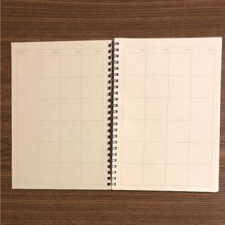 ムジルシリョウヒン(MUJI (無印良品))の無印用品ノート型スケジュール帳(カレンダー/スケジュール)