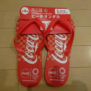 コカ・コーラ ビーチサンダル Lサイズ(ビーチサンダル)