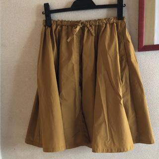 ムジルシリョウヒン(MUJI (無印良品))の無印良品の綿混ダンプがイージーワイドショーギャザースカートS(ひざ丈スカート)