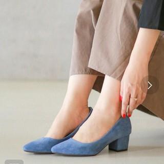 Menue ヒール5cm  26cm ブルー(ハイヒール/パンプス)
