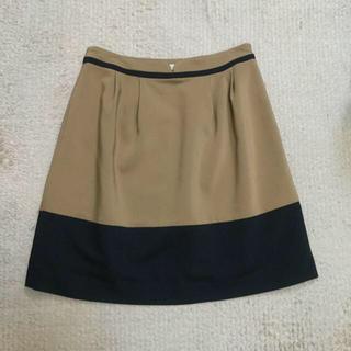 プーラフリーム(pour la frime)のオフィスファッションに★タックスカート(ひざ丈スカート)