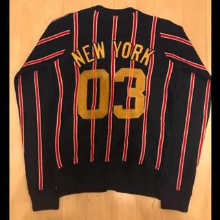 ダンスエルビーゼロスリー(DANCE LB-03)のlb-03 Yankees カーディガン デカロゴ  配色GOOD Mサイズ(カーディガン)