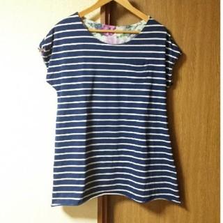 ダブルネーム(DOUBLE NAME)のボーダーTシャツ DOUBLE NAME(Tシャツ(半袖/袖なし))