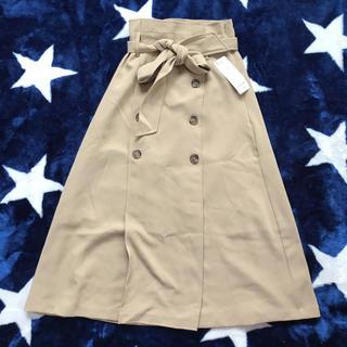 GU - GU トレンチAラインスカート ベージュ Sサイズ