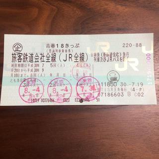 1回分★青春18きっぷ★返却不要(鉄道乗車券)