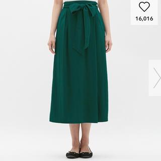GU - GU ウエストリボンロングスカート