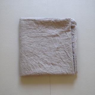 MUJI (無印良品) - 無印良品/麻平織り布団カバー/生成り/キングサイズ
