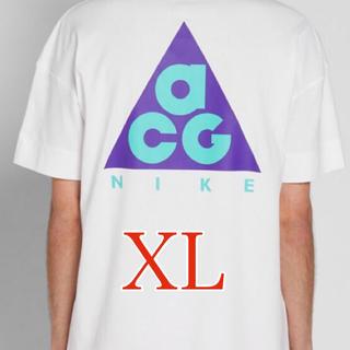 ナイキ(NIKE)のNIKE ACG LOGO TEE 白 ホワイト XL Tシャツ(Tシャツ/カットソー(半袖/袖なし))