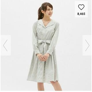 GU - 美品✨25日まで価格✨今期完売GUストライプワンピ❤