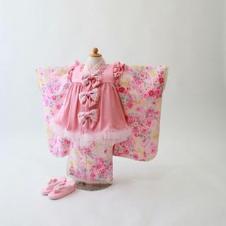 メゾピアノ(mezzo piano)の☆美品☆七五三 着物 3歳 女の子 被布 mezzo piano(和服/着物)