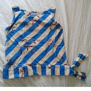 アッシュペーフランス(H.P.FRANCE)の最終価格 美品 カットソー すそリボン(シャツ/ブラウス(半袖/袖なし))