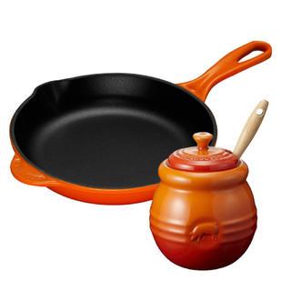 ルクルーゼ(LE CREUSET)のルクルーゼ スキレット20cm&BBQポットセット オレンジ(鍋/フライパン)