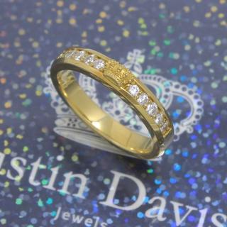 ジャスティンデイビス(Justin Davis)のジャスティンデイビス K18YG 18号 クラウンダイヤモンドリング 超高級(リング(指輪))