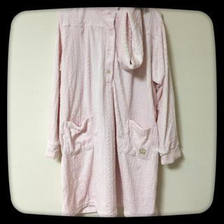 【新品】もこもこ☆ピンク☆長袖☆ワンピース☆マタニティー☆妊婦☆パジャマ☆L(マタニティパジャマ)