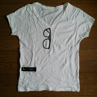 アダムエロぺ(Adam et Rope')のアダムエロぺ メガネTシャツ 38(Tシャツ(半袖/袖なし))
