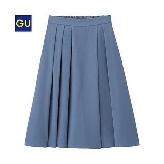 GU - GU イージーフレアスカート ブルー Sサイズ