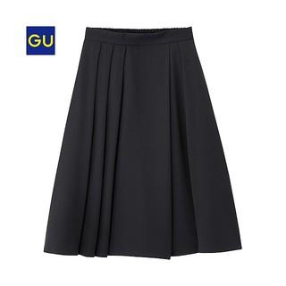 GU - GU イージーフレアスカート 黒 Sサイズ