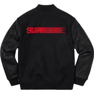 シュプリーム(Supreme)のSupreme Motion Logo jacket モーションロゴ 黒Mサイズ(スカジャン)