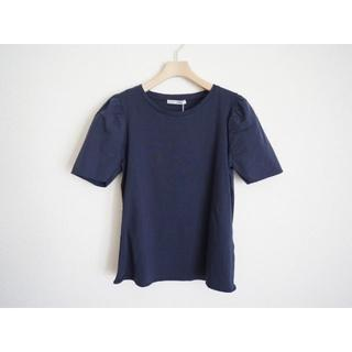 ZARA - ZARA 布帛袖Tシャツ カットソーS紺
