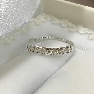 K18WG  ダイヤ ハーフエタニティリング(リング(指輪))