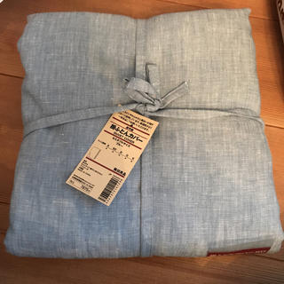 MUJI (無印良品) - 新品 無印良品 掛ふとんカバー 麻平織 セミダブル ブルー