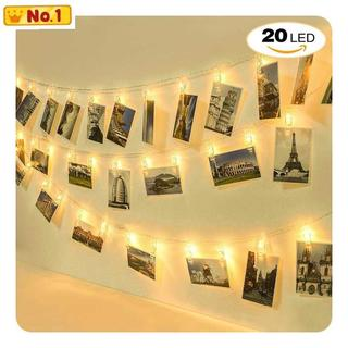 LEDストリングライト 20写真クリップ イルミネーションラ
