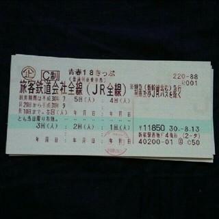 青春18きっぷ4回分(鉄道乗車券)