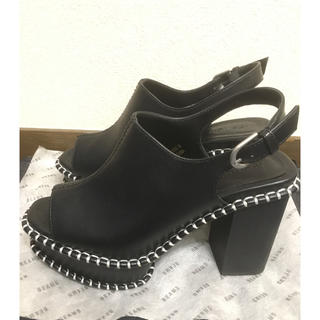 moussy - 【MOUSSY】WOODEN SOLE SABOT サンダル黒